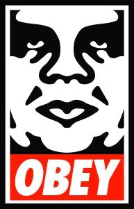 yang bernama shepard fairey judulnya obey giant rencananya obey giant
